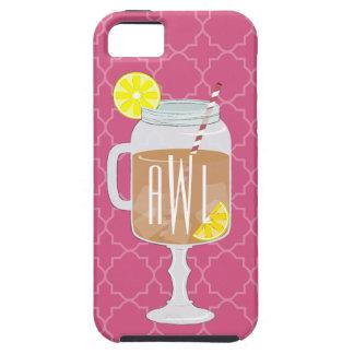 Monogrammed Stemmed Mason Jar of Sweet Tea iPhone SE/5/5s Case