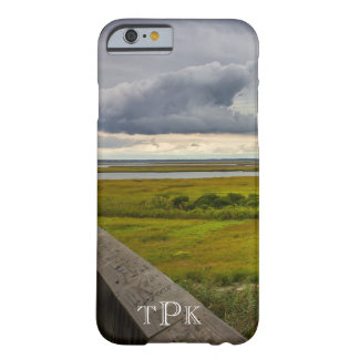 Monogrammed Stormy Sky Over Bay iPhone 6 Case