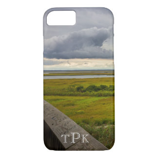 Monogrammed Stormy Sky Over Bay iPhone 7 Case