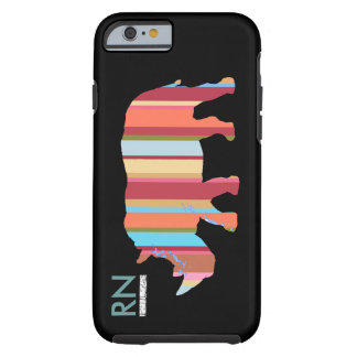 monogrammed stripes rhino iPhone 6 case