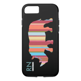 monogrammed stripes rhino iPhone 8/7 case