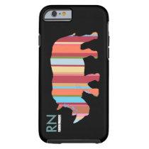 monogrammed stripes rhino tough iPhone 6 case