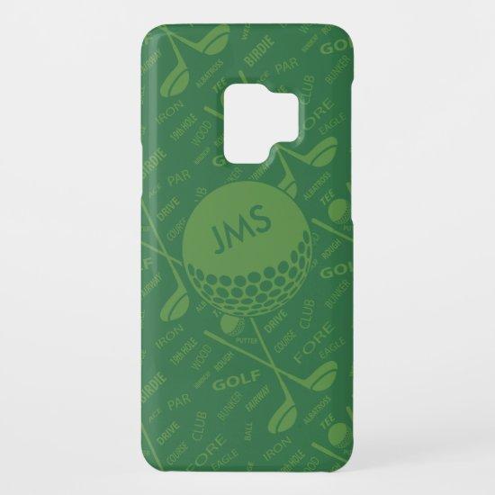 Monogrammed Subtle Golfer Pattern Case-Mate Samsung Galaxy S9 Case