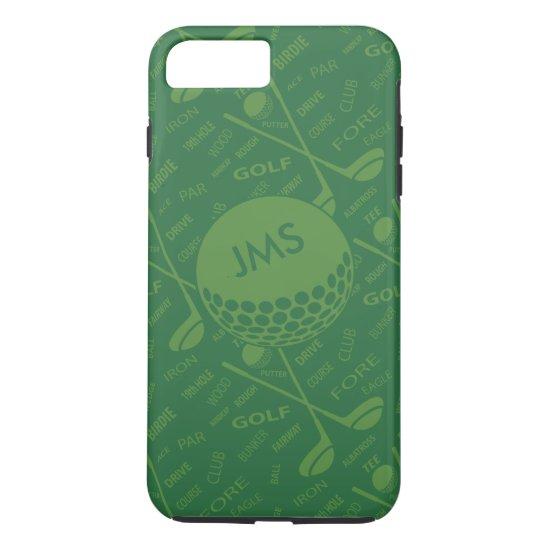 Monogrammed Subtle Golfer Pattern iPhone 8 Plus/7 Plus Case