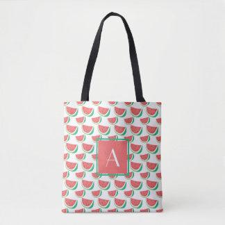 Monogrammed Summer Bags Watermelon Pattern