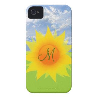 Monogrammed Summer Sunflower iPhone Case