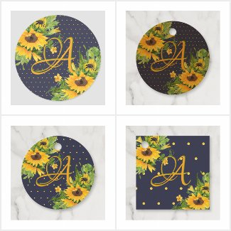 Monogrammed Sunflower Decor