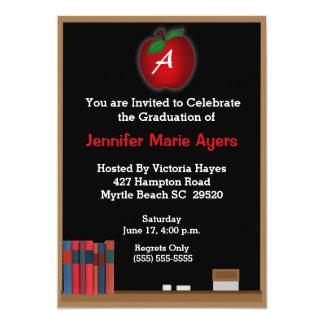 Monogrammed Teacher Graduation Invitation