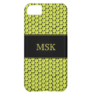 Monogrammed Tennis Ball Pattern Cover For iPhone 5C