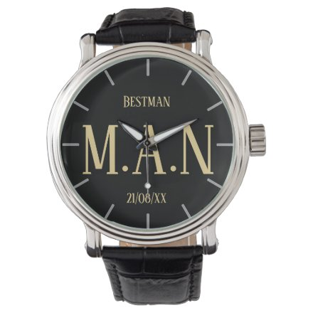 Monogrammed Thank You Gifts For Best Man Groomsmen Watch