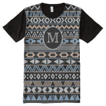 Monogrammed Tribal Pattern Drk All-Over-Print Shirt