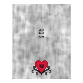 monogrammed Valentines Day Flyer