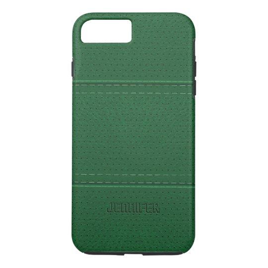 dark green leather iphone 7 case