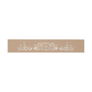 Monogrammed | Vintage Library Book Invitation Belly Band