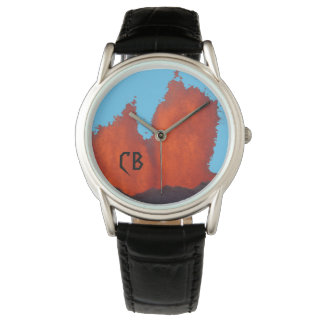 Monogrammed Volcanic Fire Fountain Watch