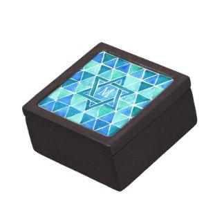 Monogrammed Watercolour 'Star of David' Pattern Premium Gift Boxes