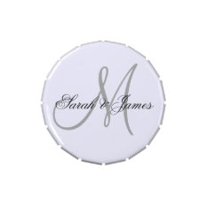 Monogrammed Wedding Favor Candy Tins at Zazzle