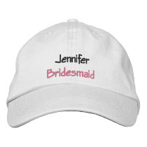 Monogrammed Wedding Hat Custom Name and Role