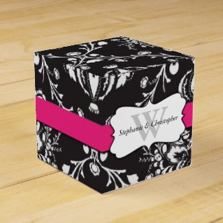 Monogrammed Wedding Party Favor Box