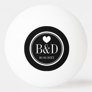Monogrammed wedding party favor ping pong balls