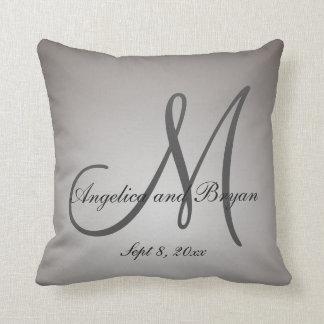 Monogrammed Wedding Pillow