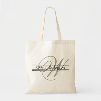 Monogrammed Wedding Reception Personalized Tote