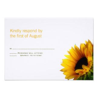 Monogrammed Wedding Response Card Custom Invites