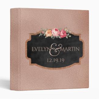 Monogrammed Wedding | Rose Gold Foil Chalkboard Binder