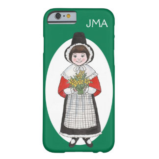 Monogrammed Welsh Girl Traditional Costume, Green Barely There iPhone 6 Case
