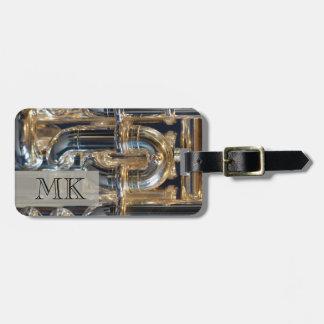 Monogrammed Wind Brass Instrument Euphonium Music Bag Tag