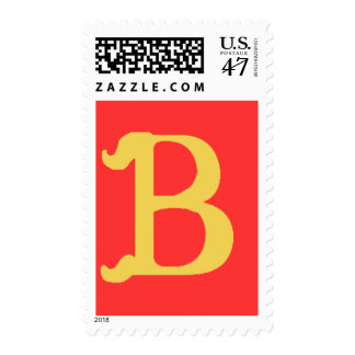 Monogrammed with the Letter B Postage Stamp