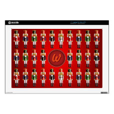 Monogrammed Xmas Nutcracker Toy Soldiers Pattern Laptop Decal