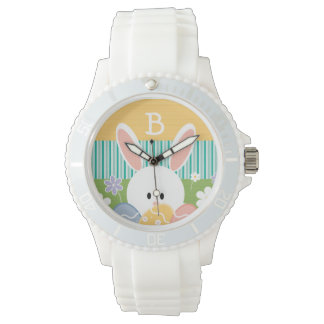 Monogrammed Yellow Easter Bunny Watches