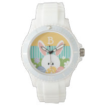 Monogrammed Yellow Easter Bunny Wrist Watch
