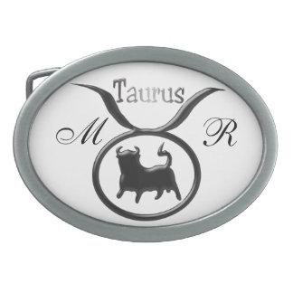 Monogrammed Zodiac Star Sign Taurus Belt Buckles