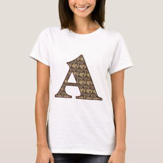 Monogrammmed Initial A Elegant Floral Shirt