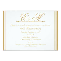 Monograms 50th Wedding Anniversary Invitation