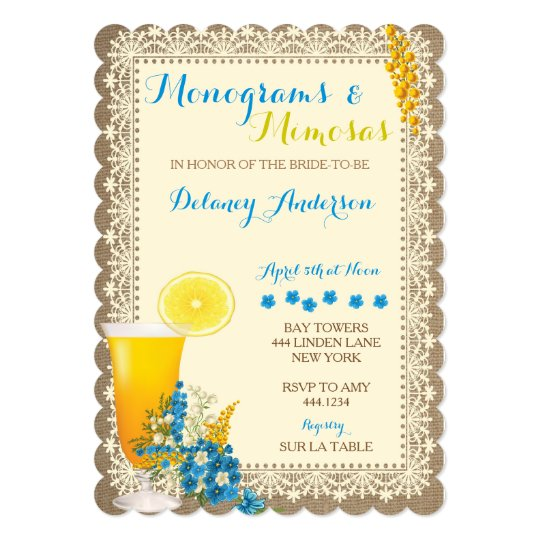 2c1f4e57d0d7 Monograms and Mimosas Bridal Shower Invitations