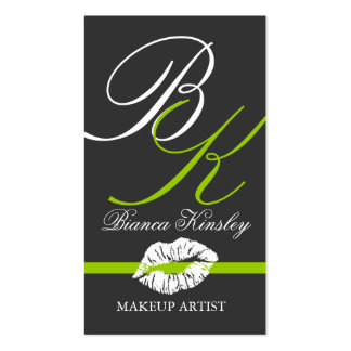 Monograms Business Cards Makeup Artist