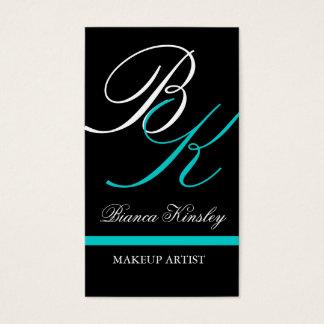 Monograms Business Cards Makeup Artist Blue