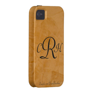 Monograms Faux Finishes Patterns iPhone 4 Case