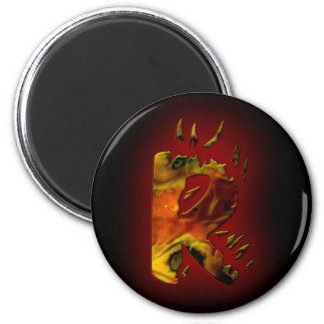Monograms: FireWorks R 2 Inch Round Magnet
