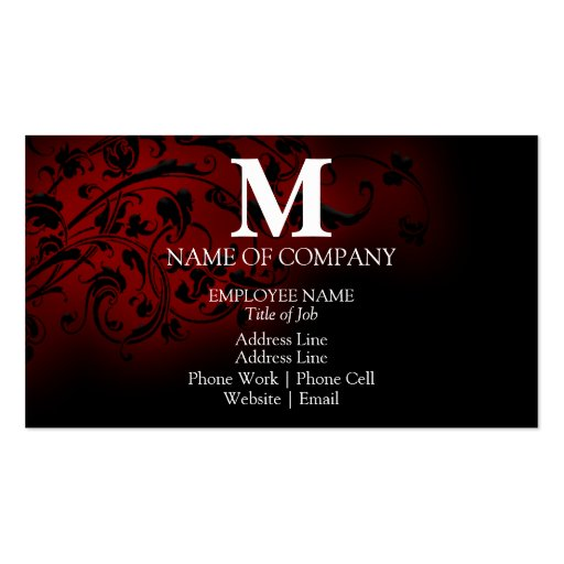Monograms For BusinessCards Double-Sided Standard Business Cards (Pack Of 100)