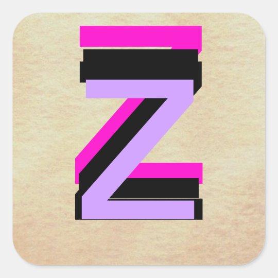 Monograms - Letters - Alphabets - CricketDiane Square Sticker