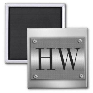 Monograms Metal Frame With Screws Magnet