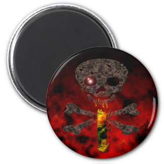 Monograms: Red Eye I Magnet