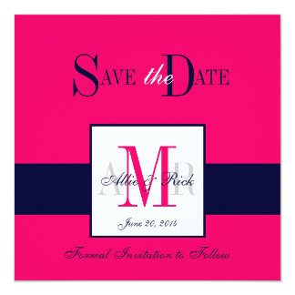 Monograms Save the Date Wedding Announcement