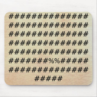 Monograms Symbols The World With Only Words Mousepad