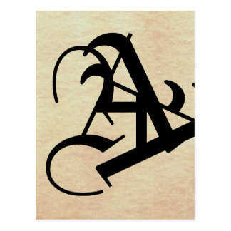 Monograms Symbols The World With Only Words Post Card