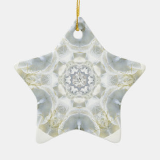 Monoi Gardenia Angels Double-Sided Star Ceramic Christmas Ornament